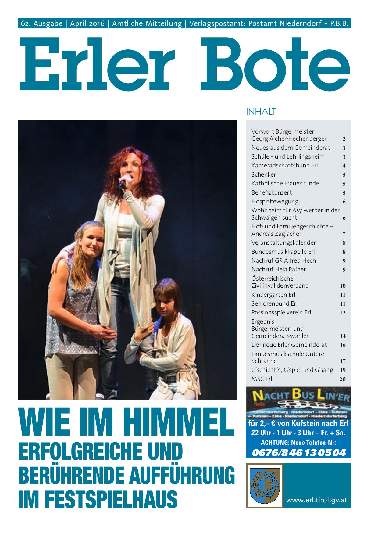 Erler Bote April 2016 - Erl - Gemeinde Erl in Tirol ...